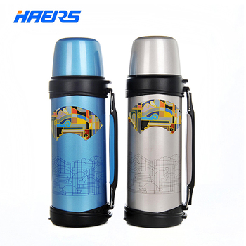 Haers 1000ml Small Mouth Thermos BPA free 304 Stainless Steal Vacuum Insulated Flask 12- 24 Hours LY-1000A-5