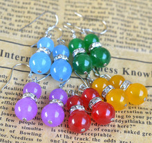 Red and blue chalcedony earrings for women handmade gourds earrings multicolor DIY jewelry brincos vintage indian jewelry 0680