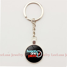 Steampunk Llaveros Twenty One Pilots Logo Charm Keychains Keyring Silver/bronze Color Key Ring for Women and Men