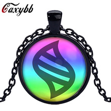 Caxybb brand Pokemon mega stone Necklace Jewelry Glass heart Round Pendant Charm Necklace Chain Ftc-n447 free shipping(China)