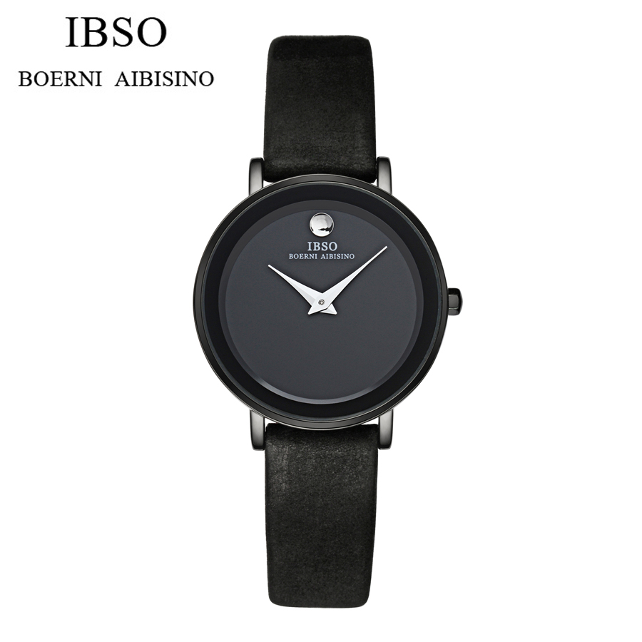 Hot Luxury Brand IBSO Orologio Donna Fashion Waterproof Watch Women Casual Leather Clock Female Quartz Ladies Wristwatch<br>