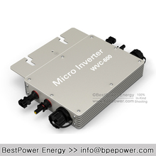 600W Grid Tie Micro Solar Inverter, 22~50V DC to AC 180~260V Pure Sine Wave Inversor, Suitable for 500~600W 24V 36V PV Module