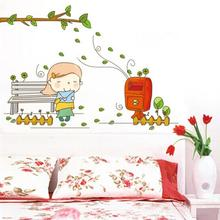 Girl Send the Letter Wall Decor Poster Wall Stickers Vinyl Large Wall decals for Kids Rooms 8253