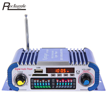 Car Stereo Power Amplifier Sound Mode Stereo Hi-Fi 12V Digital Auto LED Audio Music Player Support USB MP3 DVD SD FM