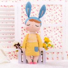 13 Inch Plush Sweet Cute Lovely Stuffed Bonecas Baby Kids Toys for Girls Birthday Christmas Gift Angela Rabbit Girl Metoo Doll(China)
