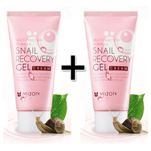 MIZON Snail Recovery Gel Cream 45ml Facial Cream Skin Care Moisturizing Anti-aging Face Lifting Firming Korean Cosmetics 2pcs(China)