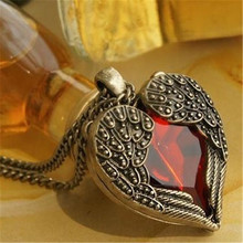 High quality Valentines Gift Heart Women Jewelry Romantic Fancy Heart Pendant collares largos