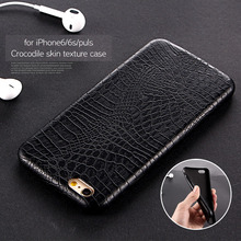 For IPhone 7 6 6S Case Luxury Crocodile Snake Print Leather Case Back Cover for Iphone 7 6 6s Plus 5 5S SE Phone Bags Coque Capa