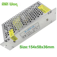 RiRi Won 2A 3A 5A 10A 12V lighting transformer Small Volume Single 12 volt Output Switching power supply for LED Strip light(China)
