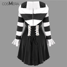 2b89c14309 CosMera Gothic Hoodies Women Hooded Sweatshirt Female Casual Double  Breasted Corset Lace Up Ladies Tops Asymmetric