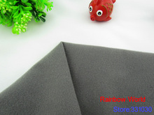 9297# Gray Adhesive Fastener Magic Sticker fabric for DIY sewing Stuffed toys sofa  brushed Loop Fleece velboa velvet(1 meter)