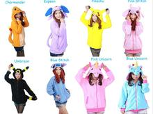 Free PP Adult Anime Pokemon Hoodie Espeon Umbreon Cosplay Costume Hoody Pikachu Pokemon Go Ash Cosplay Fancy Dress