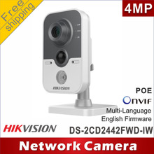 Free shipping Hikvision DS-2CD2442FWD-IW 4MP POE IP network camera cctv camera microphone Audio replace Wi-Fi DS-2CD2432F-IW