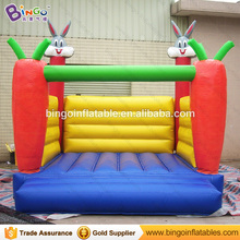 Trampoline 4 * 4 * 4M / 13 * 13 * 13ft Inflatabel Rabbit Bouncer Inflatable Trampolines Jumping Castle Outdoor Toys for Children