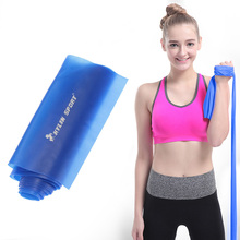 1.5m Yoga Pilates Stretch Resistance Band Exercise Fitness Band Training Elastic Exercise Fitness Rubber 150cm High Quality Blue(China)