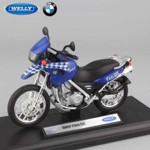 1 18 scale F650 GS dual sport Children's motorcycle Moto bikes metal mini car model sport racing Diecast Kids gifts toys blue