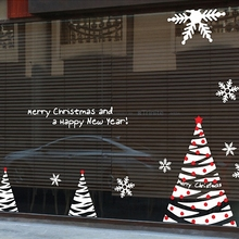 free shipping Large Christmas X mas Wall Window Glass Sticker Decal Home Decor Decoration Covering xmas005