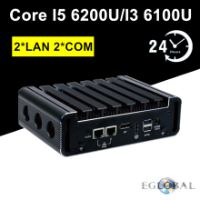 Eglobal NUC 2 Gigabit LAN Mini PC Intel Core i5 6200U i3 6100U DDR4 Pfsense Router 2 COM AES-NI DP HDMI Linux Network Server(China)