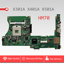 YTAI for ASUS X301A X401A X501A laptop motherboard HM70 REV2.0 DDR3 PGA989 support for Intel Celeron processor mainboard Tested(China)