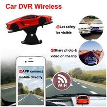 Unique Design Wide Angle HD IP camera WIFI car camcoder micro video camera Recorder 720P car DVR with Micro SD TF card