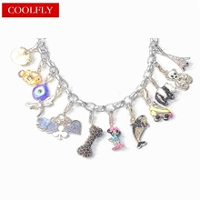 Turkish Eye Frog Dragonfly Panda Whale Mouse Charms Pendant Fashion Silver Plated DIY Gift Jewelry For Women Fit Bracelet Bijoux