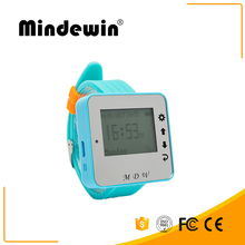 Mindewin Wireless Wrist Watch Pager Waiter Calling System Relogio Inteligente Restaurant Wireless Service Calling System(China)