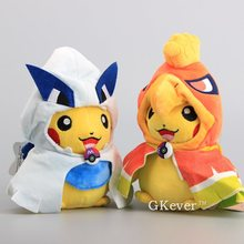 "High Quality 2 Styles Pikachu Cosplay Ho-Oh & Lugia Soft Dolls Cute Ho-Oh Pikachu Plush Toy with Red Mouth 8"" 20 CM(China)"