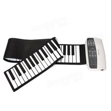Professional Silicone Flexible 88 Keys Roll Up Piano Electric Piano Keyboard with MIDI Keyboard For Musical Instruments Lovers(China)