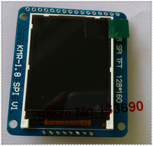 "1.8"" TFT LCD Display Screen + SD Card Conector+ PCB Adapter plate,Driver IC st7735 SPI serial tft 128x160 resolution"