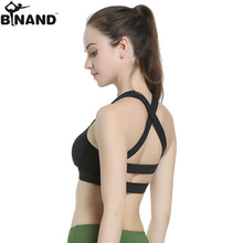 BINAND Females Halter Straps Cross Profession High Elastic Sports Bra Exercises Jogging Gym Fitness Absorb Sweat Yoga Underwear(China)