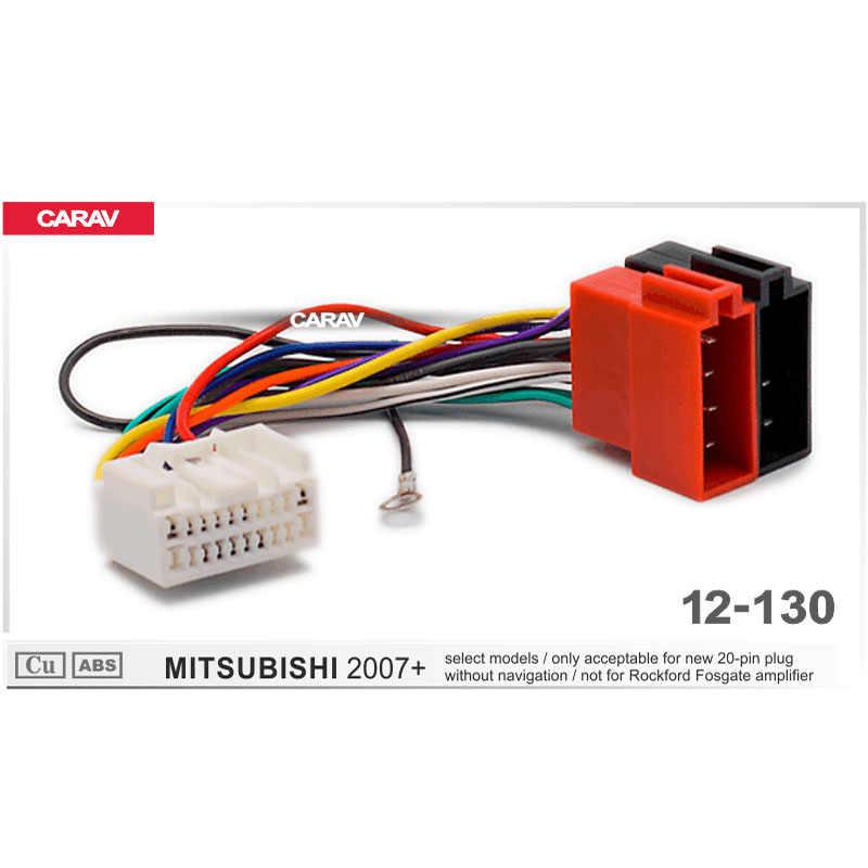 carav 12 130 iso radio adapter for mitsubishi (select models Rockford Fosgate RCA Cables