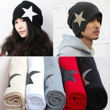 1Pcs Unisex Pentacle Star Warm Skull Beanie Hip-Hop Knit Cap Slouch Cuff Winter Hat(China)