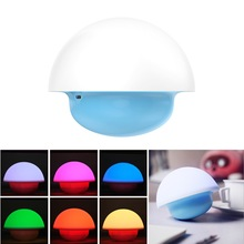 2018 Touch Sensor LED Night Light Lamp Colorful Tumbler Mushroom Baby Room Battery / USB Portable Dimmable Lighting Home decor(China)