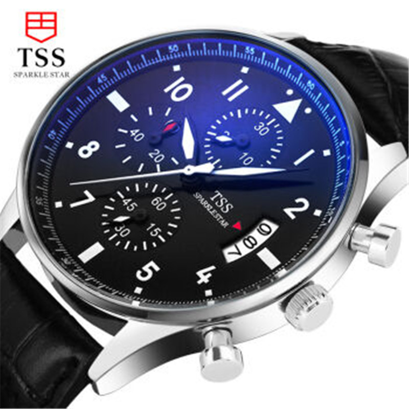 Tss Brand New Men Luxury Quartz Watch Stainless Steel Fashion Leather Waterproof Luminous Sports Watches Relogio Masculino<br><br>Aliexpress