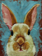 Dafen Oil Painting Manufacturer Wholesale High Quality Abstract Animal Oil Painting Rabbit Painting On Canvas Hare Paintings(China)