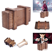 Compartment Wooden Puzzle Box Secret Magic Trick Box Intelligence Developmental Magic Puzzle Trick Toy Gift for Children Kids(China)