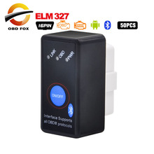 New designed Super Mini ELM327 with Bluetooth + Power Switch obd2 scanner ELM 327 Work on Android Symbian Windows free shipping
