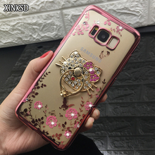 Buy New Luxury Phone Cases Finger Ring Holder Samsung S8 Plus S6 S7 edge Galaxy J3 J5 J7 2016 A5 A7 2017 Bling Flower TPU Cover for $2.55 in AliExpress store
