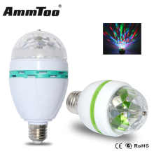 E27 3W 6W Crystal Auto Rotating RGB LED Bulb Stage DJ Lamp Light 110V 220V Party Disco Club DJ Light(China)