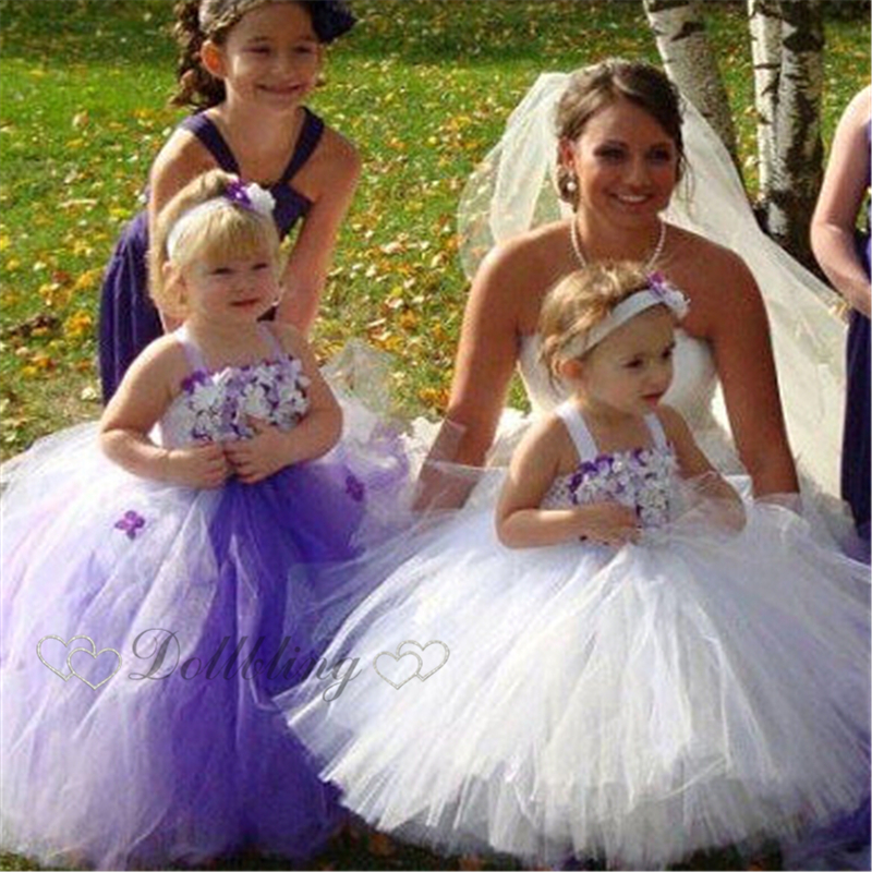 Ellies Bridal Purple Dream Girl Rustic Wedding flower girl dress Baptism tutu princess dress Sash ball gown dress d1024<br><br>Aliexpress
