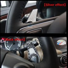 Accessories for discovery4 sport evoque defender freelander2 steering wheel carbon fibre gear shift paddle sticker(China)