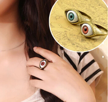 JZ043 European and American jewelry Gothic punk retro exaggerated female blue eye ring influx of people