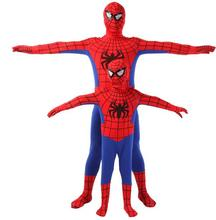 Spider Man Spiderman Mascot Costume Fancy Dress Adult And Children Halloween Costume Red with Blue