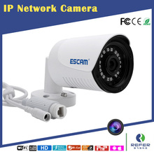 ESCAM Plane QE07 720P HD Network mini bullet IP camera support POE, night vision IP66 waterproof standard,email alarm(China)