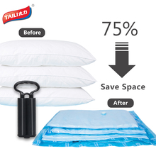 Vacuum Bag For Clothes with Pump Storage Bag Vacuum Package Space Saver Saving Storage Bag Closet Organizer Folding Bag