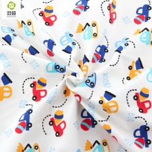Autumn & Winter Printed Truck Cotton Knitted Fabrics Cotton Baby Fabric For Baby Cloth, Bibs, Hats,Shoes Sleepwear 100*50CM(Hong Kong)
