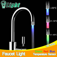 LED Faucet Light Temperature Sensor Lamp RGB Glow Shower Water Shower Head Stream Sink Tap Torneira Bathroom Kitchen Accessories