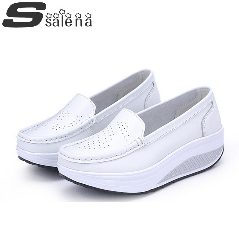 Women leather shoes female wholesale women flats girl comfort low heels flat loafers nurse shoes A658<br><br>Aliexpress