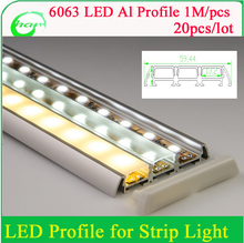 aluminum led profile for three times led strips 8-12mm with frosted milk white / clear transparent pc cover