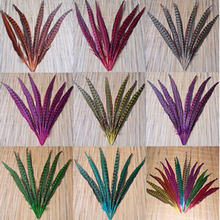 10 pcs Long 18-20inch/45-50cm Natural DIY Pheasant Tail Feather Hair Extension Centerpieces for Wedding Decorations(China)